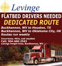 100 Dedicated Truck Driving Jobs Flatbed Drivers Need Levinge Transportation Inc