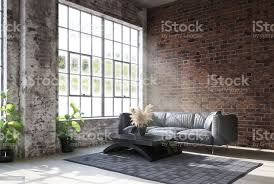 wohnzimmer im industriestil stockfoto und mehr bilder alt