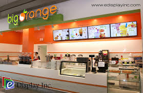 E Display Digital Menu Boards For Big Orange
