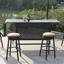 Outdoor Bar Height Patio Sets: Patio Bar Tables & Chairs : BBQGuys Glass Top Alinum Frame 5 Pc Patio Ding Set Caravana Fniture Outdoor Fniture Refishing Houston Powder Coaters Bistro Beautiful And Durable Hungonucom Cbm Heaven Collection Cast 5piece Outdoor Bar Rattan Pnic Table Sets By All Things Pvc Wicker Tables Best Choice Products 7piece Of By Walmart Outdoor Fniture 12 Affordable Patio Ding Sets To Buy Now 3piece Black Metal With Terra Cotta Tiles Paros Lounge Luxury Garden Kettler Official Site Mainstays Alexandra Square Walmartcom The Materials For Where You Live