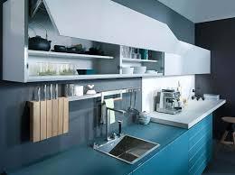 blaue küche mit grauer wandfarbe ideen bilder leicht