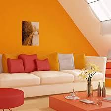 telihome tapete vlies orange gelb wohnzimmer dekoration