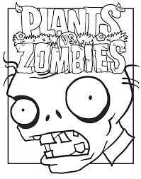 Plants Vs Zombies Coloring Pages Poster