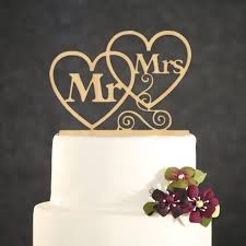 Wedding Cake Topper Personalized Gold Mr & Mrs Acrylic Cake Topper