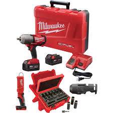 FREE SHIPPING — Milwaukee M18 FUEL Cordless Impact Wrench Kit with