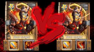 Castle Clash Pumpkin Duke Best Traits by Skull Knight Vs Skull Knight Life Drain Or Deadly Strike Whos