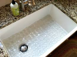 Rubbermaid Sink Mats Almond by Our Farmhouse Sink Tips To Clean And Care For Porcelain Sinks