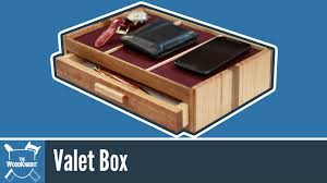 Dresser Valet Watch Box by 126 Valet Box Youtube