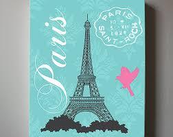 Eiffel Tower Art Paris Bedroom DecorChandelier Girls Room Decor Teen Or Girl Nursery Pink And Aqua