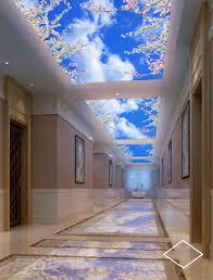 faux plafond bureau eclairage led intégré dans un faux plafond d hotel bureaux