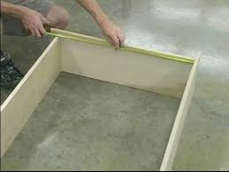 how to build a wooden bookshelf laying out partitions when