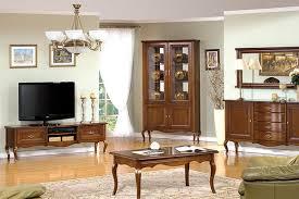 komplett wohnzimmer set vitrine rtv couchtisch spiegel klassisch royal prato 1