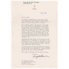 Roger Chaffee Astronaut Acceptance Letter