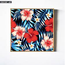 Hawaiian Aloha Flowers Spring Bloom Wall Decoration Poster Leaves Picture Print Canvas Photo Art Home Decor For Livingroom In Painting Calligraphy From