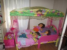 dora the explorer toddler bed with canopy mygreenatl bunk beds
