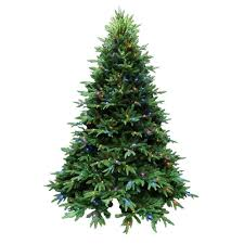 Balsam Christmas Trees by Santa U0027s Best 7 5 Ft Indoor Pre Lit Led Splendor Spruce Artificial