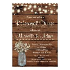 Rustic Rehearsal Dinner Invitation Card