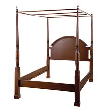 Twin Metal Canopy Bed Pewter With Curtains by King Size Traditional 4 Post Canopy Bed In Antique Mahogany Finish