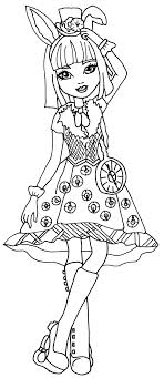 Free Printable Ever After High Coloring Pages Bunny Blanc With