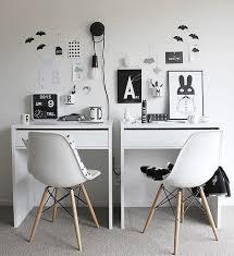 Ikea Micke Desk White by Ikea Micke Desk Setup For Two Office Decor Ideas Pinterest