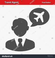 Travel Agent Icon EPS 8 Format