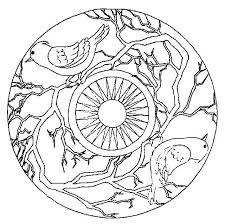 Halloween Mandala Coloring Pages For Kids Printable 2