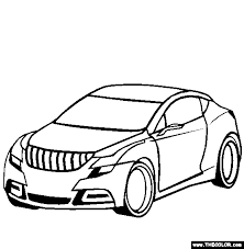 Buick Riviera Concept Car Coloring Page