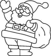 Santa Colouring Pages Christmas Coloring Free
