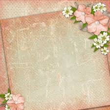 Vintage Background With Lace And Flower Composition Stock Photo