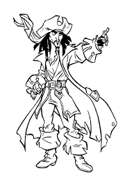 Printable Captain Jack Sparrow Coloring Pages