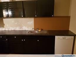 cuisine lave vaisselle cuisine noir laqué avec lave vaisselle et plan de travail no a