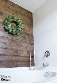 Rustic Bathroom Wall Decor Diy Plank Ideas