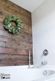 Rustic Bathroom Wall Decor Diy Plank Ideas