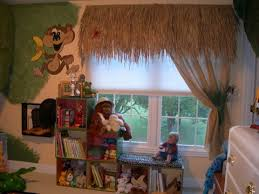 Jungle Themed Child Bedroom By Sandi Gaddes Book Shelves Window Treatments Boys Room