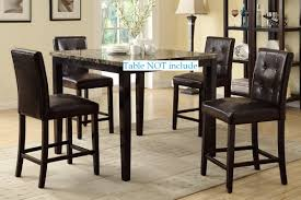 Amazon.com - Set Of 4 Bar Stools Espresso Faux Leather Parson ... Mix Match 5 Piece Counter Height Ding Set Lifestyle C1744p Pub Table Fniture Fair North Tall Bistro Table And 2 Chairs Retro Blue In Winchester Hampshire Bar Stools The Brick Tables Long Breakfast And Glass Top Bistro Photos Pillow Weirdmongercom Challiman Rustic Brown Pc Round Drm 4 Eaging Chairs Stool Chair Handmade Log 48quot X 36quot Get The Right For Outdoor Trex Tall Ding