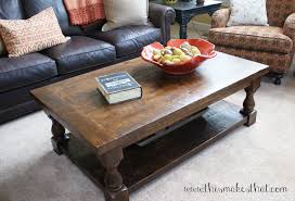 Pottery Barn Charleston Sofa Dimensions by Pottery Barn Inspired Coffee Table This Makes That