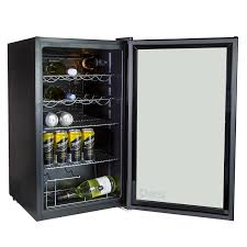 IceQ 93 Litre Under Counter Glass Door Display Fridge Amazoncouk Large Appliances