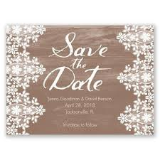 Oak Lace Save The Date LaceWedding RusticWedding SaveTheDate DavidsBridal