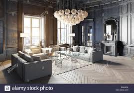 100 Modern Luxury Design Modern Luxury Black Interior 3d Render Design Concept Stock Photo