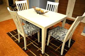 Awesome Dining Room Chair Seat Cushion Covers With Black And Cream Floral Cushions For Chairs Designs