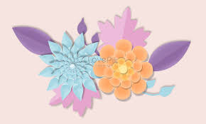 Simple Paper Cut Style Flowers