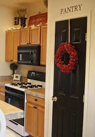 Painted Pantry Door Easy DIY Project Door color Iron Ore by