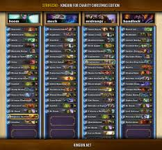 Top Decks Hearthstone September 2017 by Complete Decklists From Kinguin For Charity