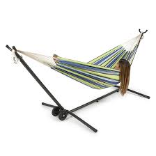 2 Person Hammock Stand Outdoor Space Saving Steel with Carrying
