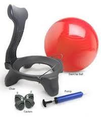 Physio Ball Chair Base by Stel U0027air Office Ball Chair U2013 The Inside Trainer Inc