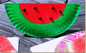 Paper Plate Watermelon