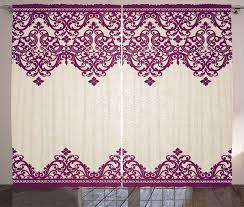 gardine schlafzimmer kräuselband vorhang mit schlaufen und haken abakuhaus türkisch muster rokoko spirale kaufen otto