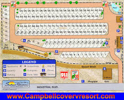 Lake Havasu RV Park Scenic View Map