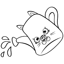 Cartoon Watering Can Coloring Page