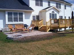 12x12 Paver Patio Designs by Deck And Patio Design With Inbuilt Hearth Pit In Hawthorn Woods
